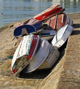 Rowing boats on St Ives Harbour
