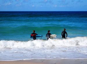 St Ives surfers enjoying the wonderful beaches